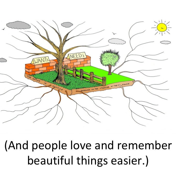 (And people love and remember     beautiful things easier.)