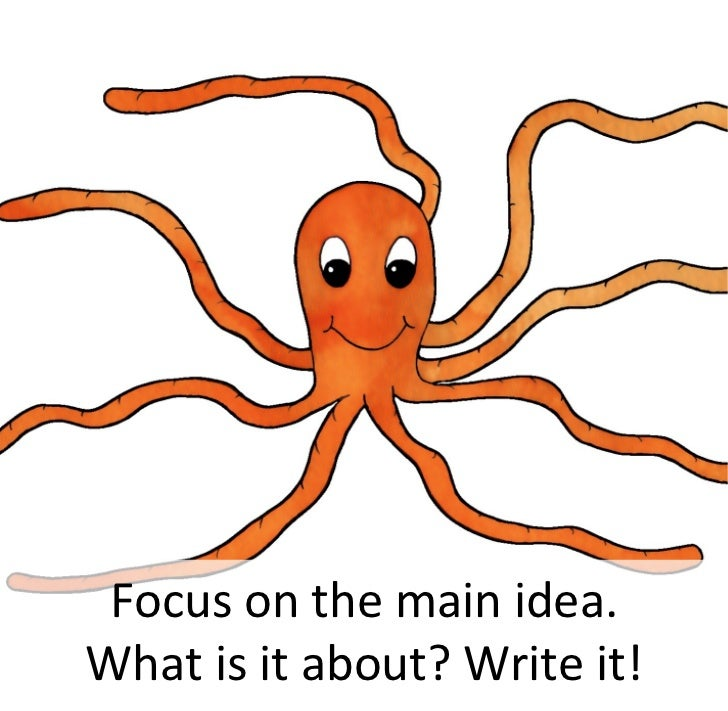 Focus on the main idea. What is it about? Write it!