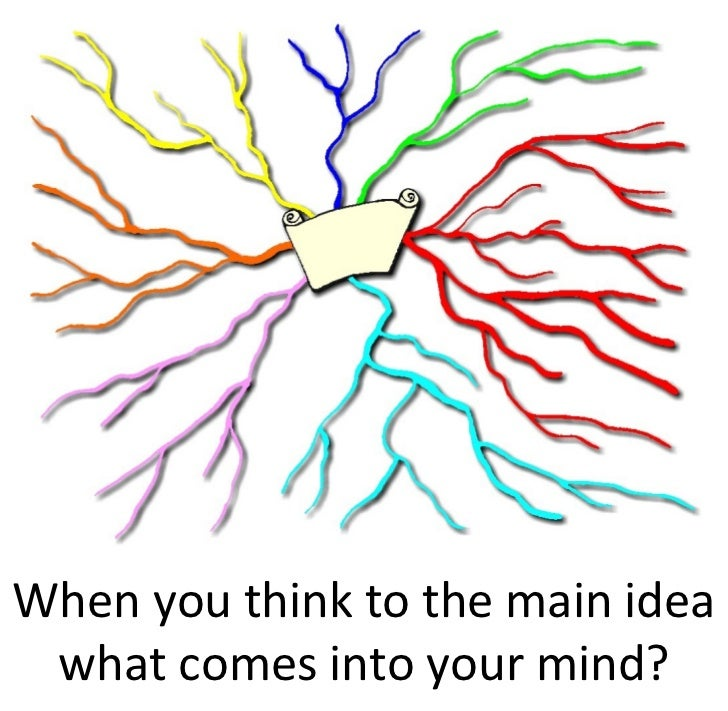 When you think to the main idea  what comes into your mind?
