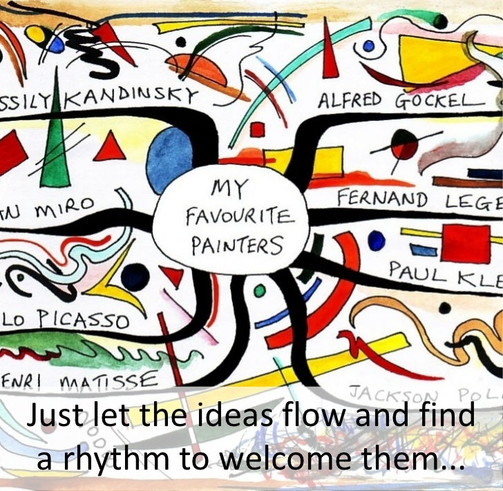 Just let the ideas flow and find  a rhythm to welcome them...