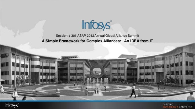 Session # 301 ASAP 2012 Annual Global Alliance SummitA Simple Framework for Complex Alliances: An IDEA from IT