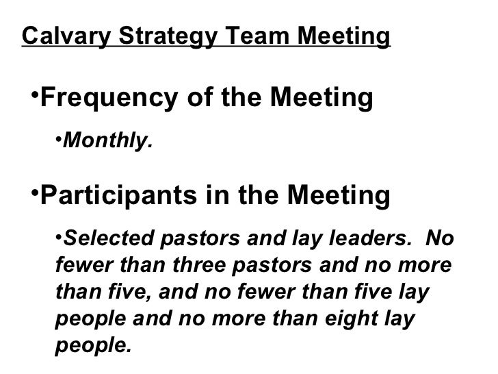 idea for more efficient meeting structure