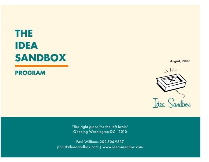 Idea Sandbox Background Aug '09