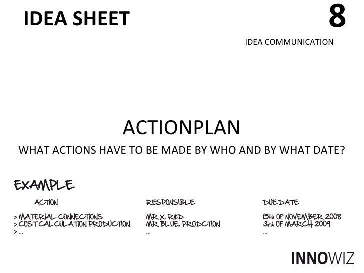 idea sheet