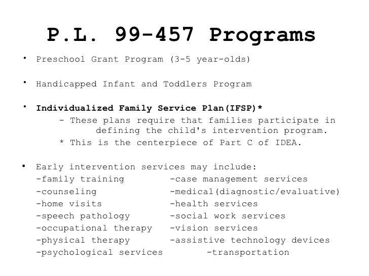 IDEA 1986 (P.L. 99-457)