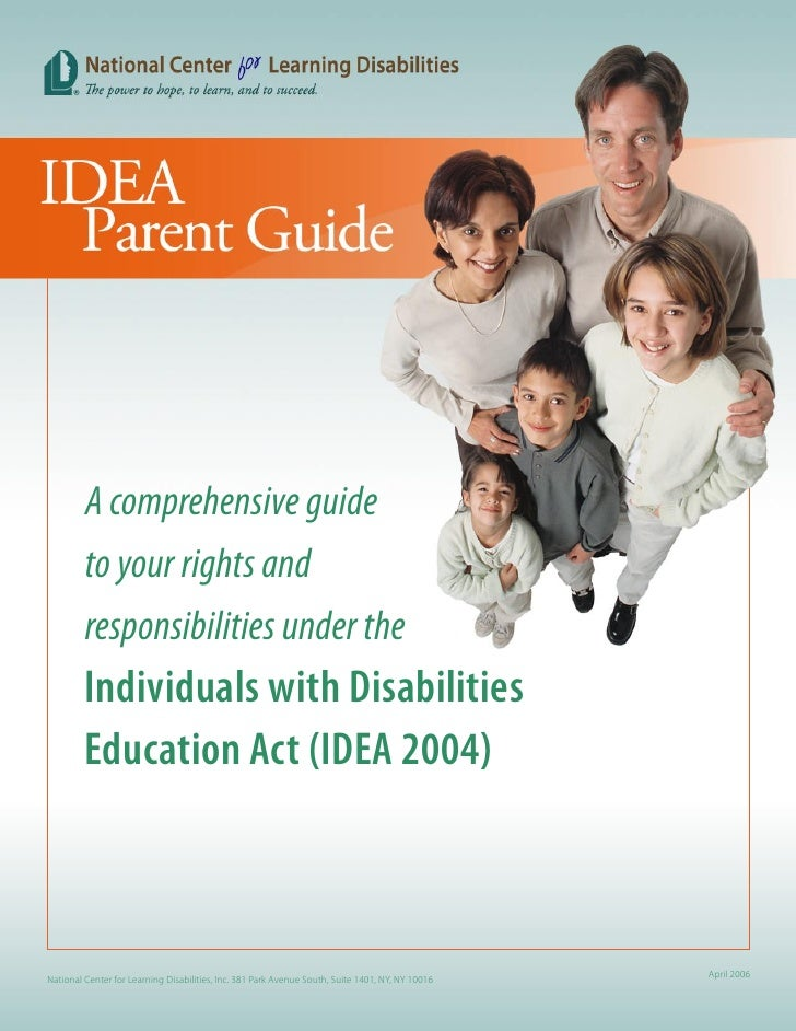 A comprehensive guide          to your rights and          responsibilities under the          Individuals with Disabiliti...