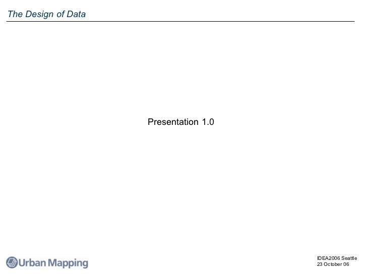 The Design of Data Presentation 1.0