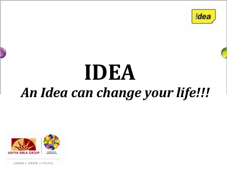 IDEAAn Idea can change your life!!!