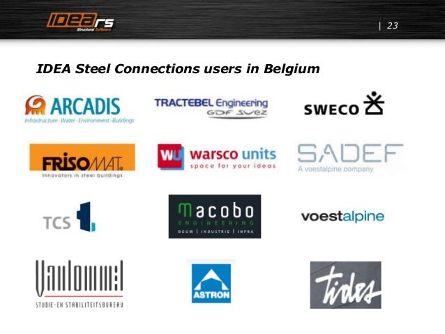 IDEA Steel Connections users in Belgium 23