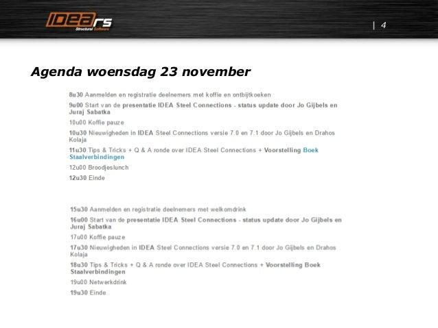 Agenda woensdag 23 november 4