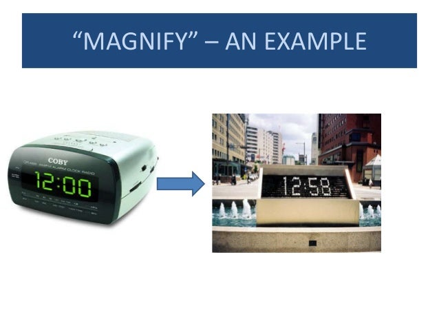 """""""MAGNIFY"""" – AN EXAMPLE"""