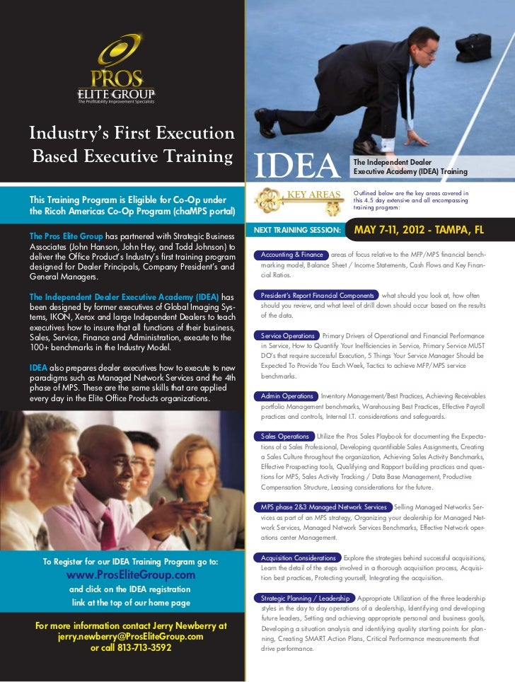 Industry's First ExecutionBased Executive Training                                                                        ...