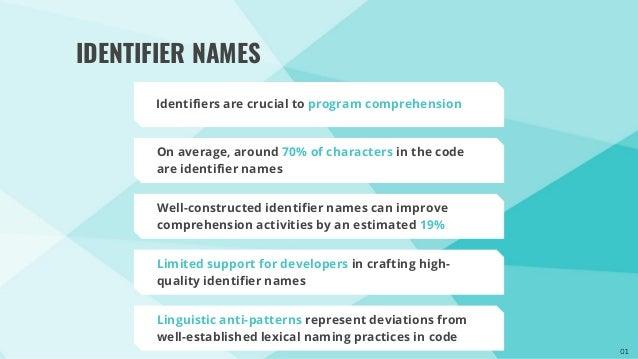 IDEAL: An Open-Source Identifier Name Appraisal Tool Slide 2