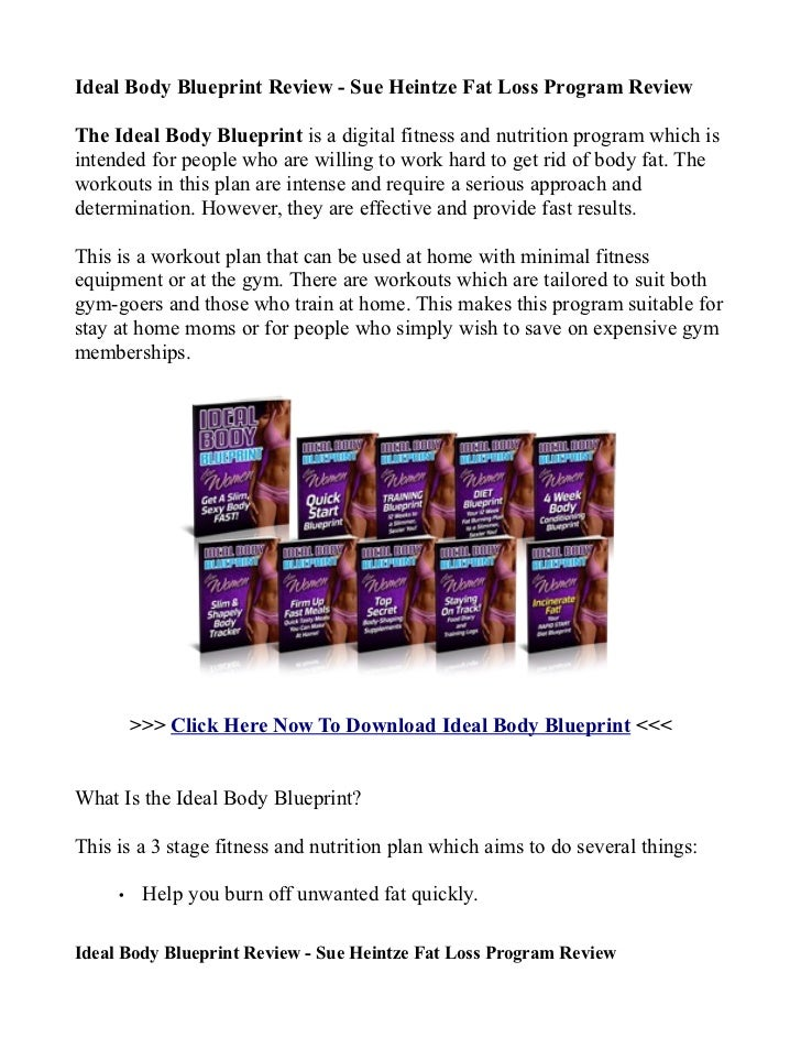 Ideal body blueprint review sue heintze fat loss program review ideal body blueprint review sue heintze fat loss program reviewthe ideal body blueprint is a malvernweather Gallery