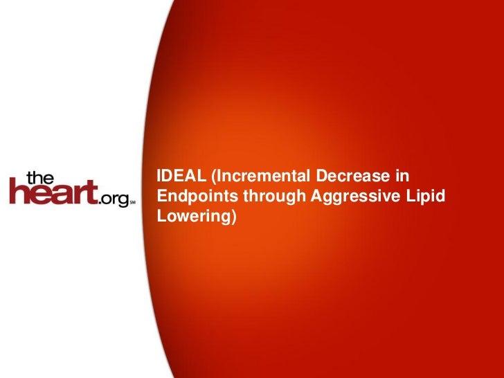 IDEAL (Incremental Decrease inEndpoints through Aggressive LipidLowering)