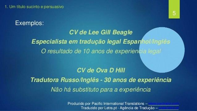 como criar o cv ideal para tradutores independentes