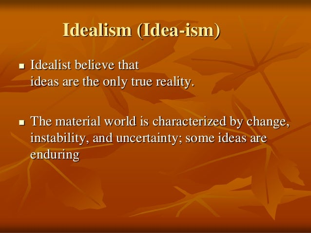 Idealism education and character development