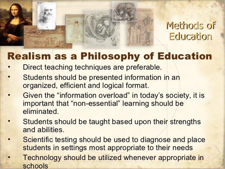 educational philosophy and idealism essay Idealism is a very old philosophical thought and it has exercised a potent  influence on the mind of man throughout the ages even in modern.