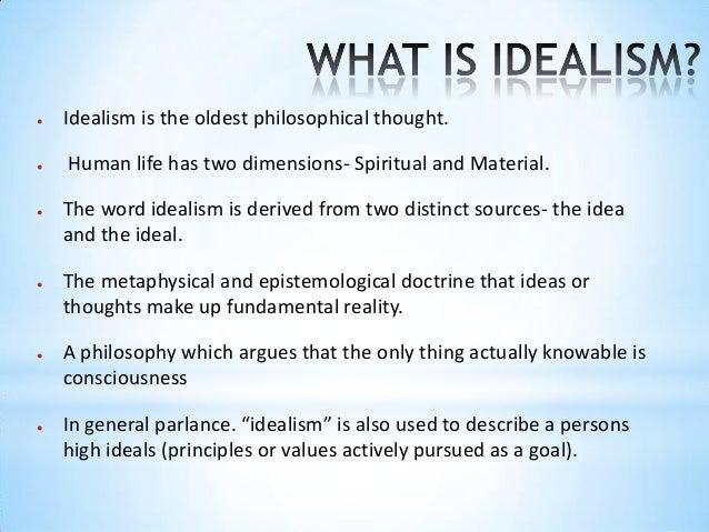 principles of idealism