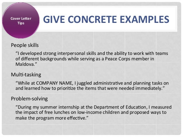Conclusion; 18. Cover LeXer GIVE CONCRETE EXAMPLES Tips People Skills U201c ...  Resume People Skills