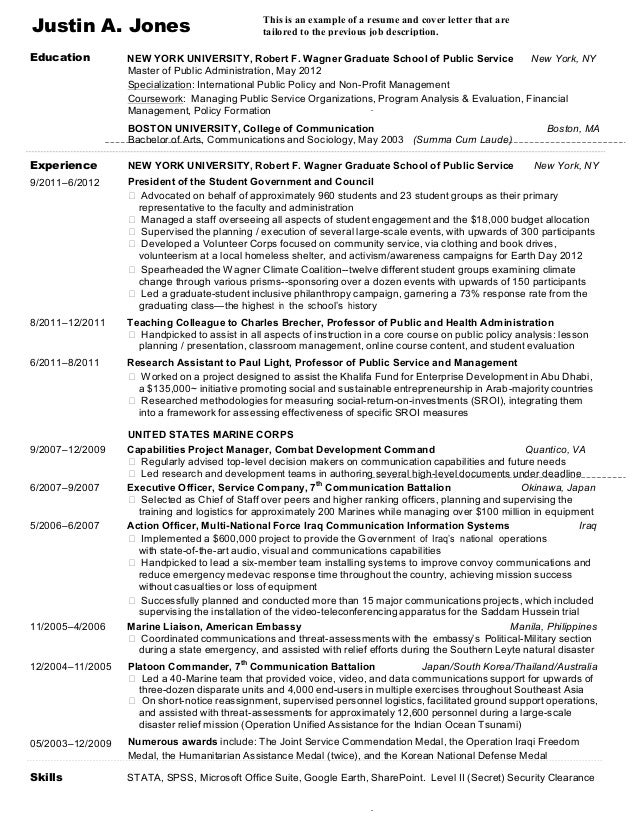 28 justin a jones this is an example of a resume and cover letter