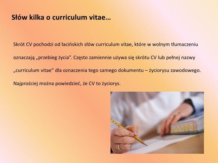 skrót od curriculum vitae