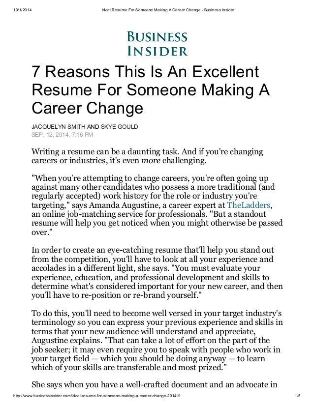 change career resume help