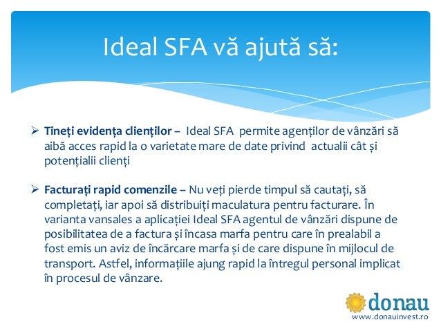 Ideal SFA - Solutia software pentru automatizarea vanzarilor Slide 3