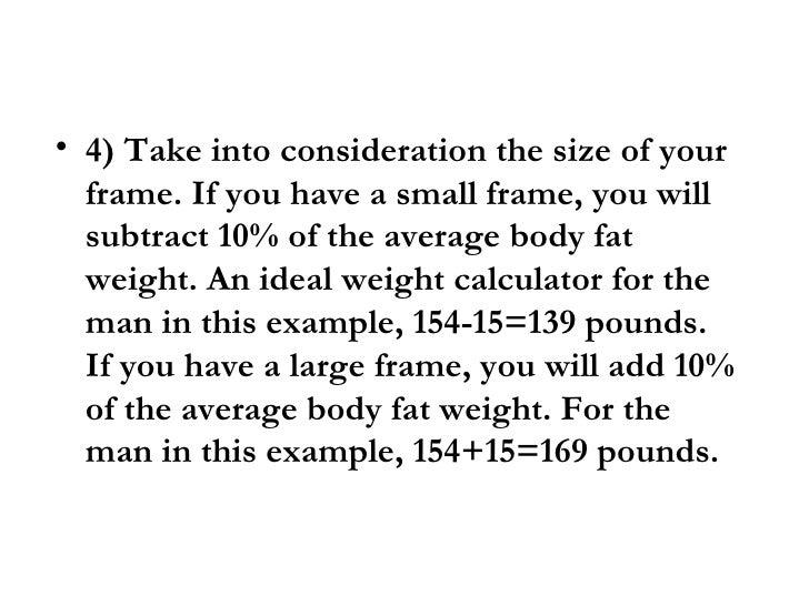 Ideal Weight Men
