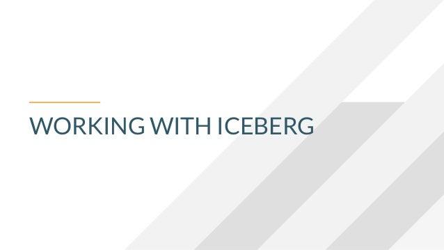 WORKING WITH ICEBERG