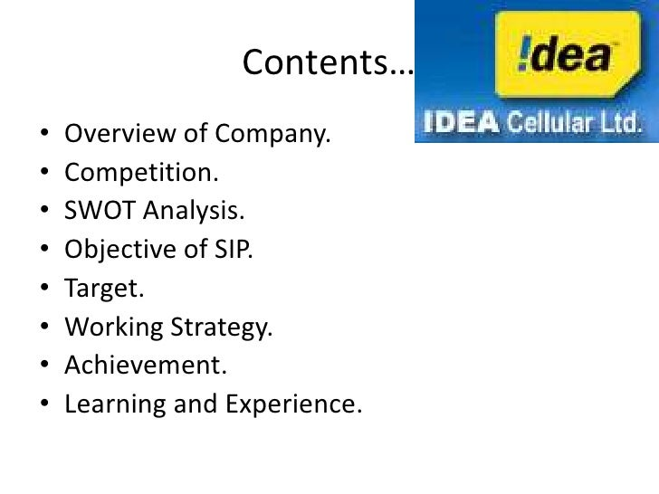 swot analysis of idea cellular essay Idea and vodafone merger: a saga of becoming india's largest telecom  company  can use in the essay writing (wat) and group discussion (gd)  round to make it to  idea cellular which is owned by kumar mangalam birla  have come forward with  xat exam analysis: tricky paper to keep cut-offs low.