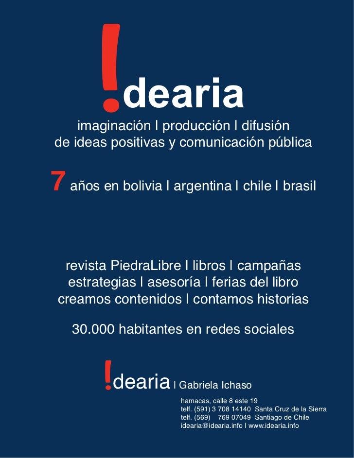 i             dearia    imaginación | producción | difusiónde ideas positivas y comunicación pública7 años en bolivia | ar...