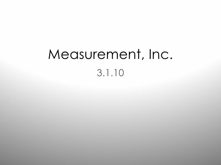 Measurement, Inc. 3.1.10