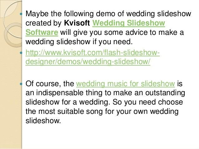 songs for wedding slideshow