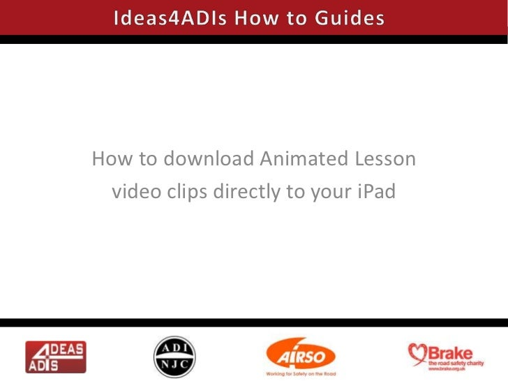 How to download Animated Lesson video clips directly to your iPad