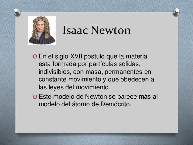 Ideas De Isaac Newton Sobre La Estructura De La Materia