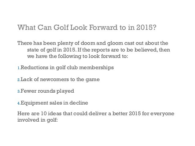 10 Ideas For Golf Marketing In 2015
