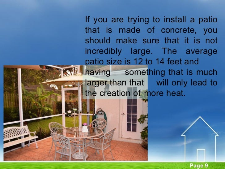 ... Patio Average Patio Size : Ideas For A Beautiful Landscape In Front Of  Your Home ...