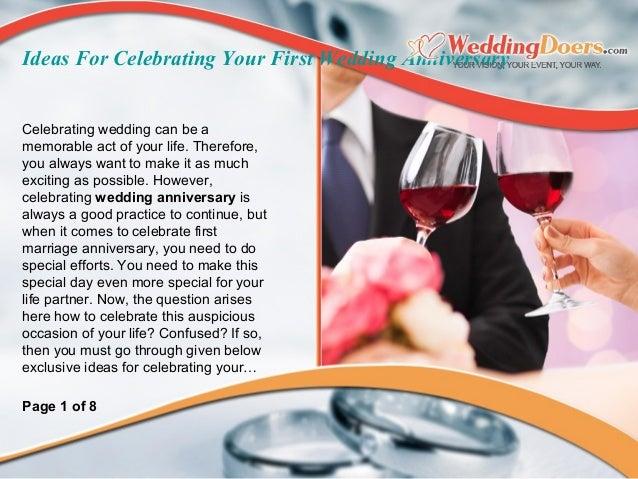 Celebrating 1st wedding anniversary ideas