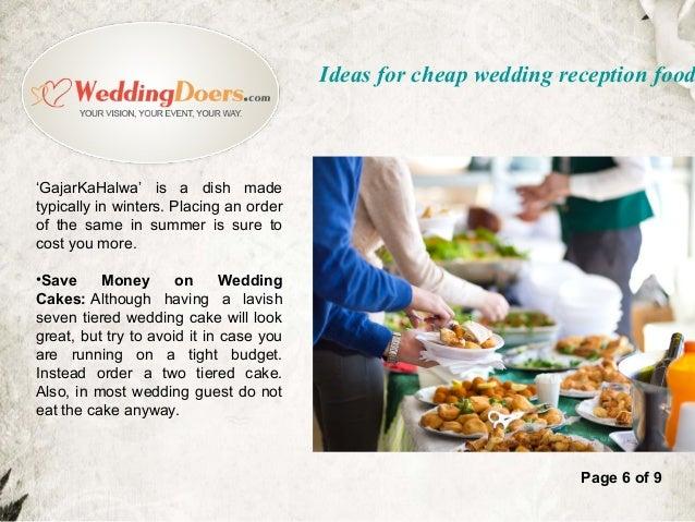 Ideas For Cheap Wedding Reception Food