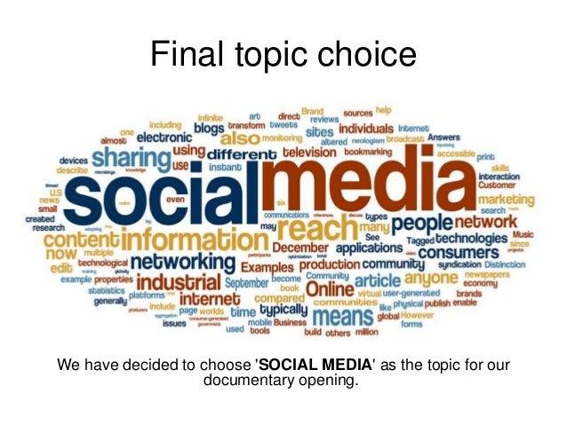 Ideas for Documentary Topics