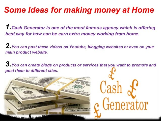 Ideas For Earn Extra Money From Home