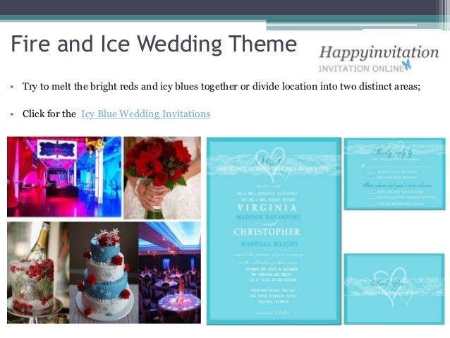 Ideas of winter wedding party themes