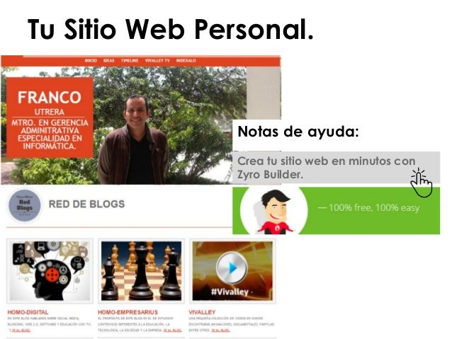 Ideas para crear sitios web Crear website