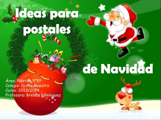 Ideas para postales navideñas