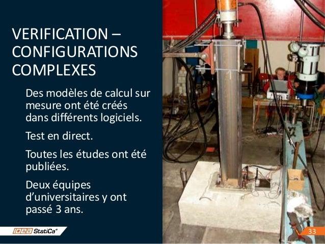3333 VERIFICATION – CONFIGURATIONS COMPLEXES Des modèles de calcul sur mesure ont été créés dans différents logiciels. Tes...