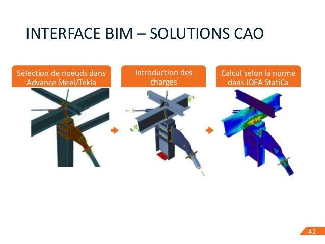 4242 INTERFACE BIM – SOLUTIONS CAO Sélection de noeuds dans Advance Steel/Tekla Introduction des charges Calcul selon la n...