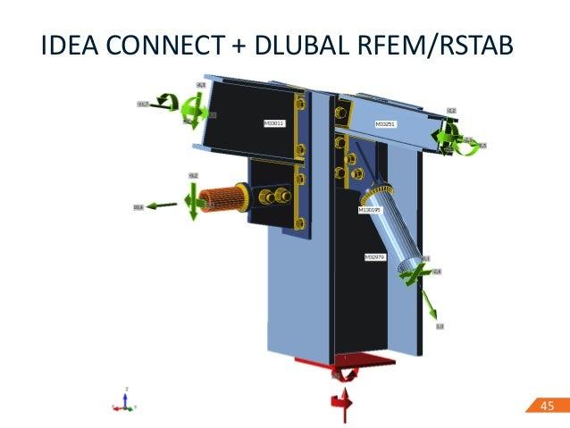4545 IDEA CONNECT + DLUBAL RFEM/RSTAB