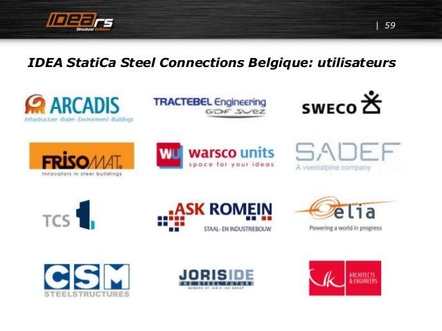 IDEA StatiCa Steel Connections Belgique: utilisateurs 59