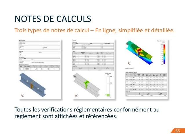 6565 NOTES DE CALCULS Trois types de notes de calcul – En ligne, simplifiée et détaillée. Toutes les verifications régleme...